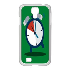 Alarm Clock Weker Time Red Blue Green Samsung Galaxy S4 I9500/ I9505 Case (white)