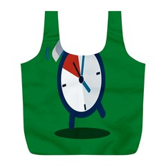 Alarm Clock Weker Time Red Blue Green Full Print Recycle Bags (L)