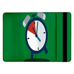 Alarm Clock Weker Time Red Blue Green Samsung Galaxy Tab Pro 12.2  Flip Case