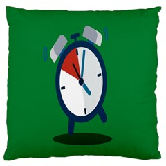 Alarm Clock Weker Time Red Blue Green Standard Flano Cushion Case (one Side)
