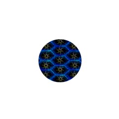 Blue Bee Hive Pattern 1  Mini Buttons