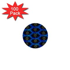 Blue Bee Hive Pattern 1  Mini Buttons (100 Pack)