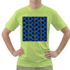 Blue Bee Hive Pattern Green T Shirt