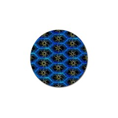 Blue Bee Hive Pattern Golf Ball Marker (4 Pack)