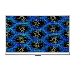 Blue Bee Hive Pattern Business Card Holders