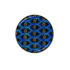 Blue Bee Hive Pattern Hat Clip Ball Marker