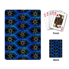 Blue Bee Hive Pattern Playing Card