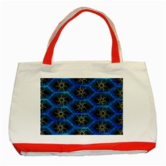 Blue Bee Hive Pattern Classic Tote Bag (red)