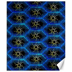 Blue Bee Hive Pattern Canvas 8  X 10