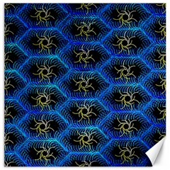 Blue Bee Hive Pattern Canvas 16  X 16