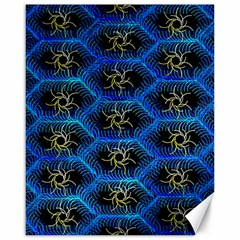Blue Bee Hive Pattern Canvas 16  X 20