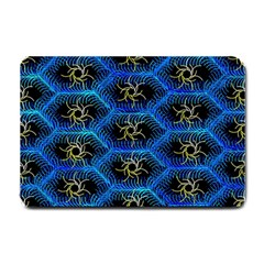 Blue Bee Hive Pattern Small Doormat
