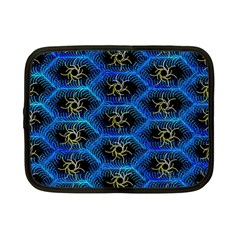 Blue Bee Hive Pattern Netbook Case (small)