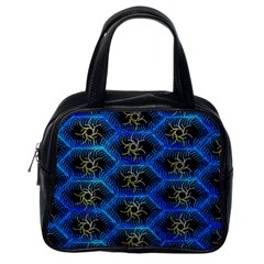 Blue Bee Hive Pattern Classic Handbags (one Side)