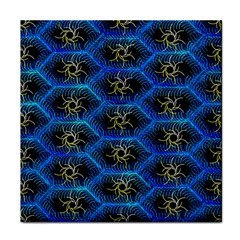 Blue Bee Hive Pattern Face Towel