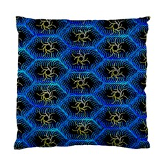 Blue Bee Hive Pattern Standard Cushion Case (Two Sides)