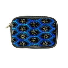 Blue Bee Hive Pattern Coin Purse