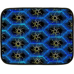 Blue Bee Hive Pattern Double Sided Fleece Blanket (mini)