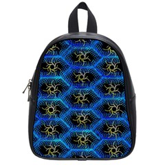 Blue Bee Hive Pattern School Bags (small)