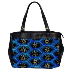 Blue Bee Hive Pattern Office Handbags (2 Sides)