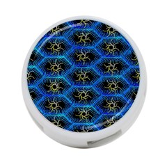 Blue Bee Hive Pattern 4 Port Usb Hub (one Side)