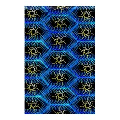 Blue Bee Hive Pattern Shower Curtain 48  x 72  (Small)