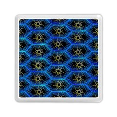 Blue Bee Hive Pattern Memory Card Reader (square)