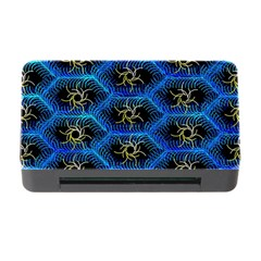 Blue Bee Hive Pattern Memory Card Reader with CF