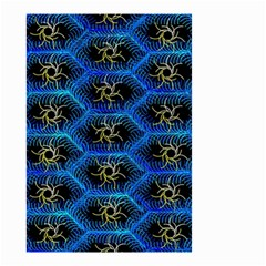 Blue Bee Hive Pattern Small Garden Flag (two Sides)
