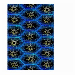 Blue Bee Hive Pattern Large Garden Flag (two Sides)