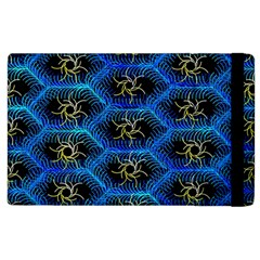 Blue Bee Hive Pattern Apple Ipad 2 Flip Case
