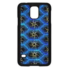 Blue Bee Hive Pattern Samsung Galaxy S5 Case (black)