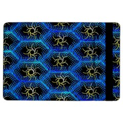 Blue Bee Hive Pattern Ipad Air 2 Flip