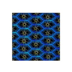 Blue Bee Hive Pattern Satin Bandana Scarf