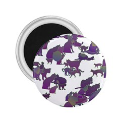 Many Cats Silhouettes Texture 2 25  Magnets