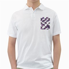 Many Cats Silhouettes Texture Golf Shirts