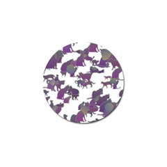 Many Cats Silhouettes Texture Golf Ball Marker (4 pack)