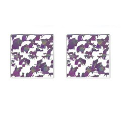 Many Cats Silhouettes Texture Cufflinks (square)