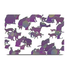 Many Cats Silhouettes Texture Plate Mats