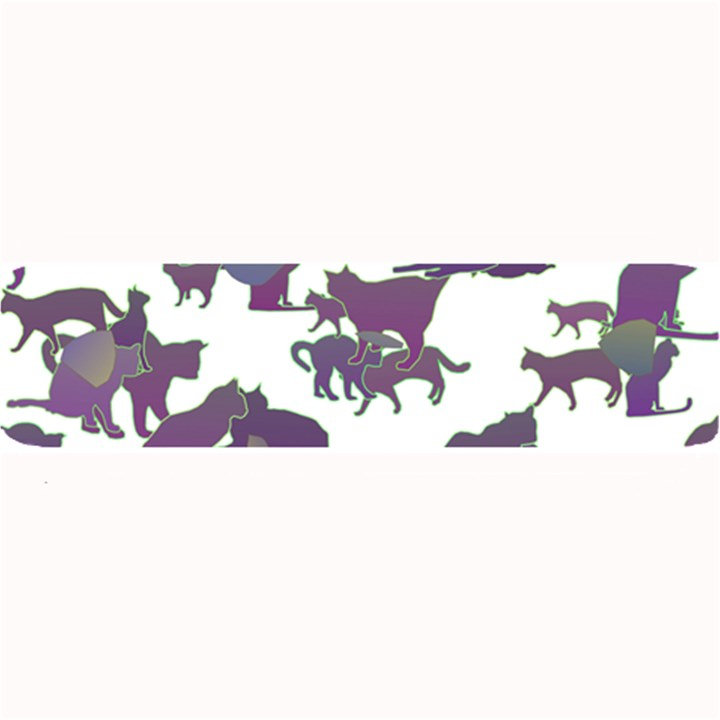 Many Cats Silhouettes Texture Large Bar Mats