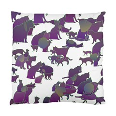 Many Cats Silhouettes Texture Standard Cushion Case (one Side)