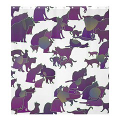 Many Cats Silhouettes Texture Shower Curtain 66  X 72  (large)