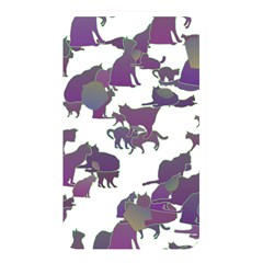 Many Cats Silhouettes Texture Memory Card Reader