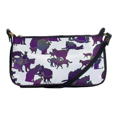 Many Cats Silhouettes Texture Shoulder Clutch Bags