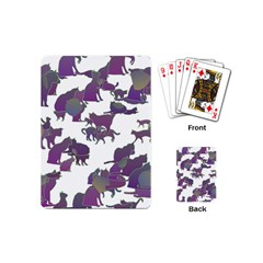 Many Cats Silhouettes Texture Playing Cards (mini)