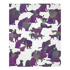 Many Cats Silhouettes Texture Shower Curtain 60  X 72  (medium)