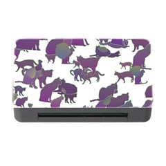 Many Cats Silhouettes Texture Memory Card Reader With Cf