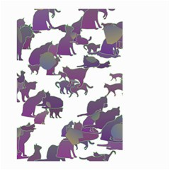 Many Cats Silhouettes Texture Small Garden Flag (two Sides)