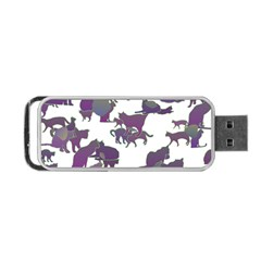 Many Cats Silhouettes Texture Portable Usb Flash (one Side)