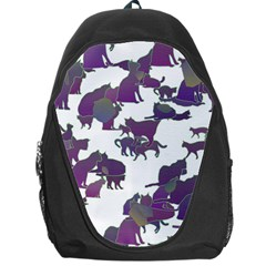 Many Cats Silhouettes Texture Backpack Bag